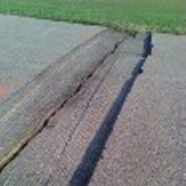 A photo of a milled crack.